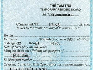 Temporary resident card in Vietnam